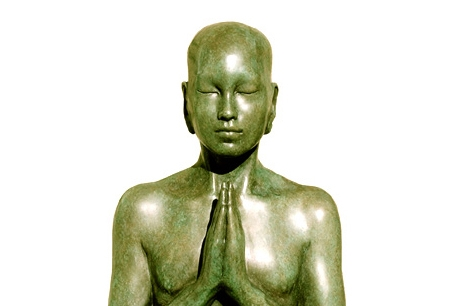 Bronze Buddha Sculpture - Prayer
