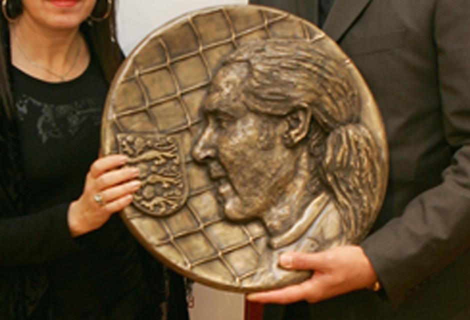 David Seaman Bronze Resin Plaque