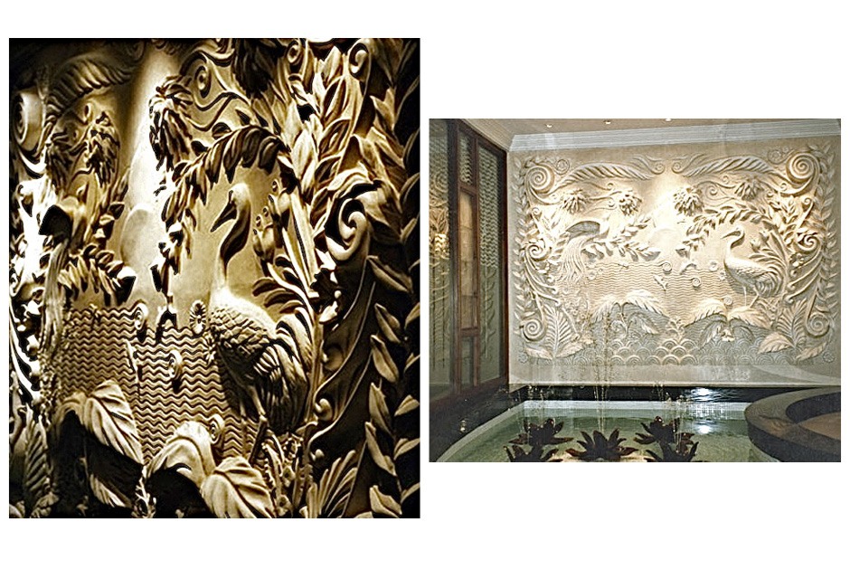 Art Deco bas relief sculpture, Dorchester Hotel