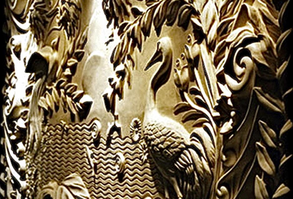 Art Deco bas relief sculpture, Dorchester Hotel | Laura Lian