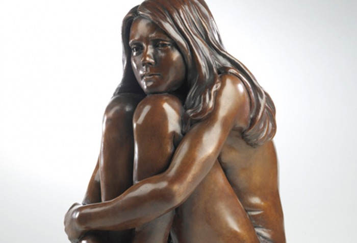 Child of History Bronze Sculpture of Young Girl