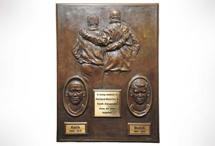Portrait sculpture - bronze plaque - memorial sculpture