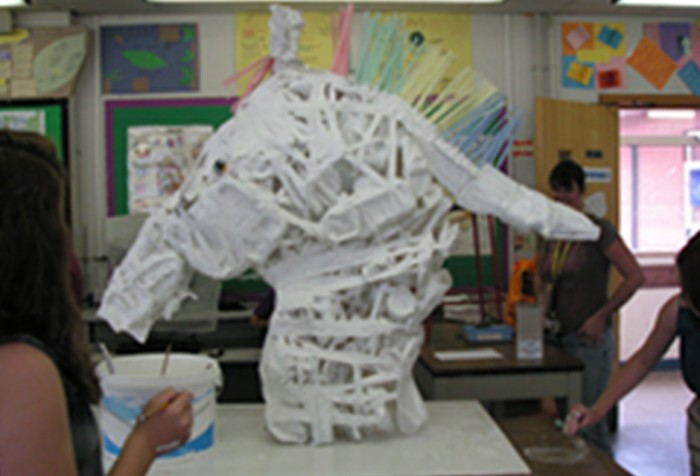 White Horse Sculpture / School Project