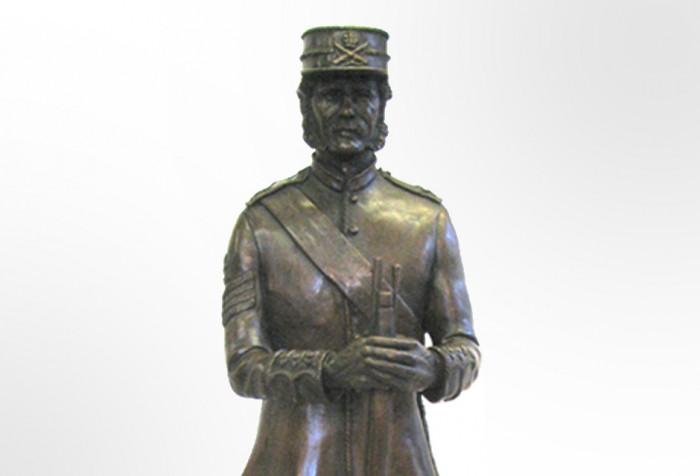 Commemorative Bronze Sculpture of 19th Century Soldier