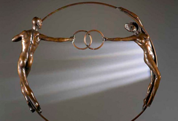 Vesica Pisces - Olympic Bronze Sculpture