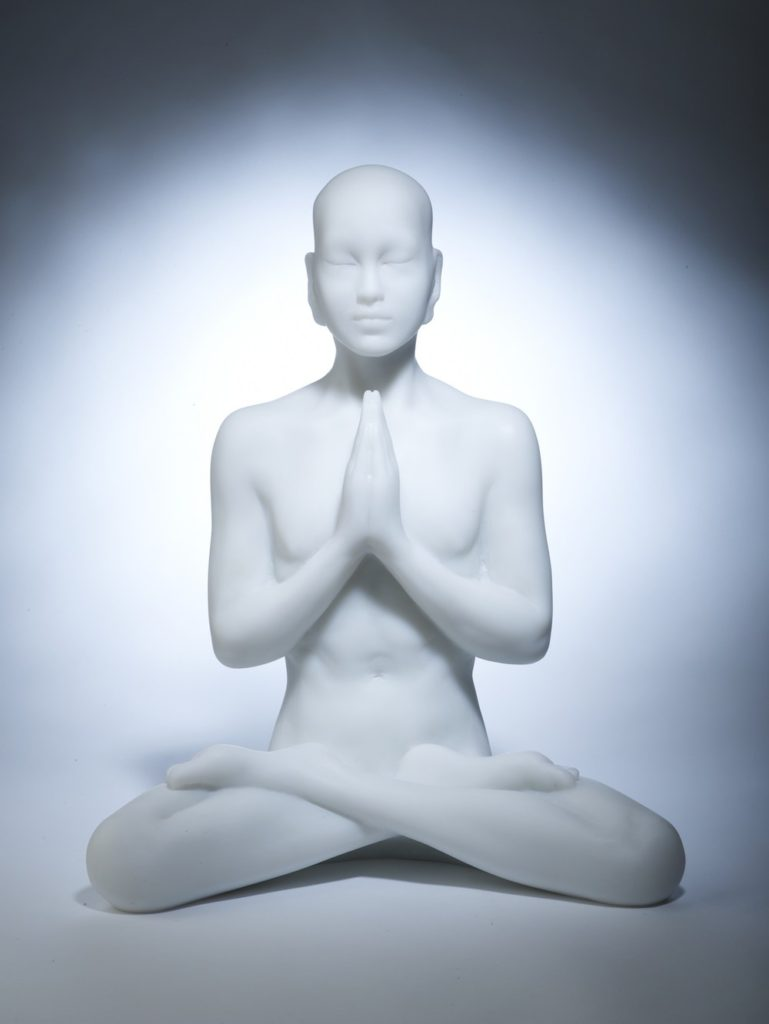 Marble Resin Buddha Sculpture 'Prayer'