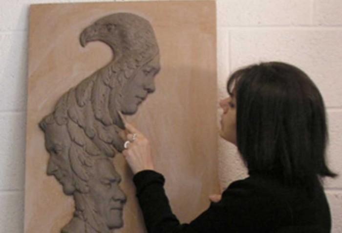 Laura in her Studio