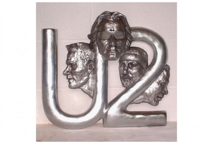 U2 Band Portrait SculpturePlaque