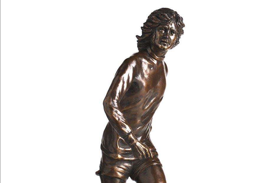 george best bronze figurine sculpture