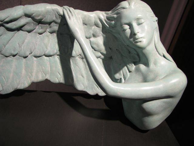 Dream of Flying - bronze nude figurative sculpture