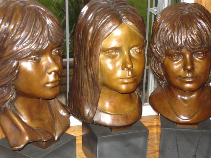 The Yeomans Children's Sculpture Portraits in Bronze
