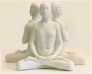 Marble Resin Buddha – 'Prayer' 'Meditation' & 'Knowledge'