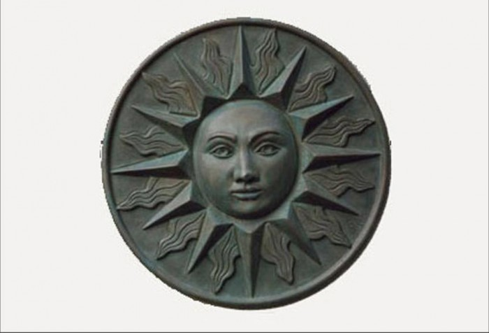Sun bronze resin bronze wall plaque