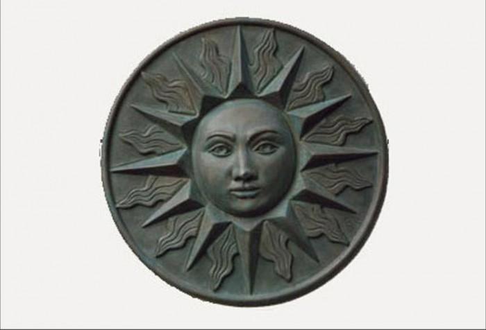 Sun bronze resin bronze wall plaque