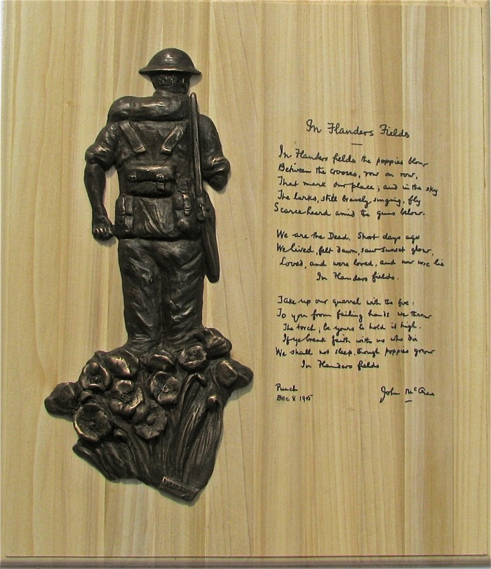 'Unknown Soldier'  Bronze Relief Sculpture Plaque - war memorial