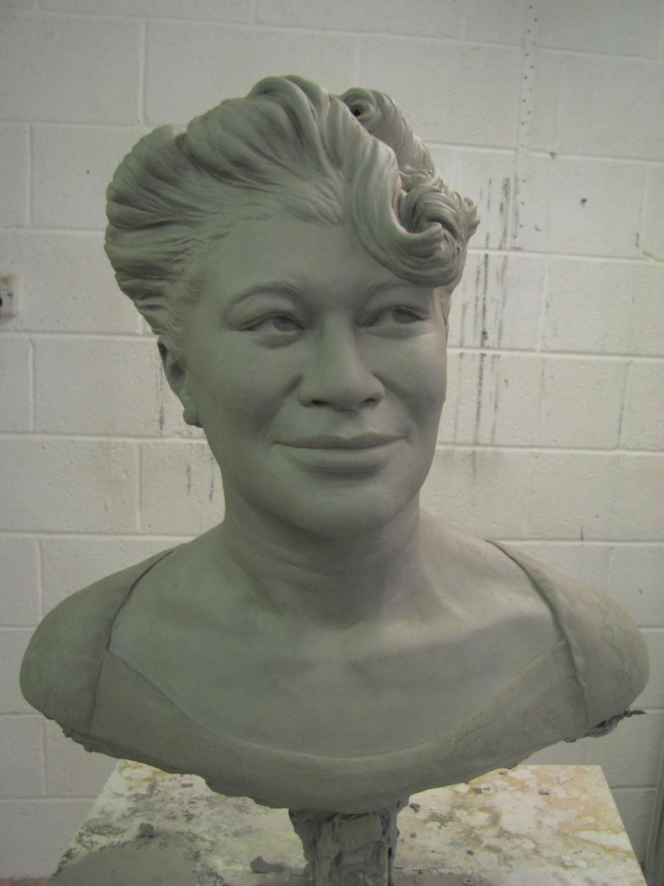 Portrait Sculpture of Ella Fitzgerald in bronze