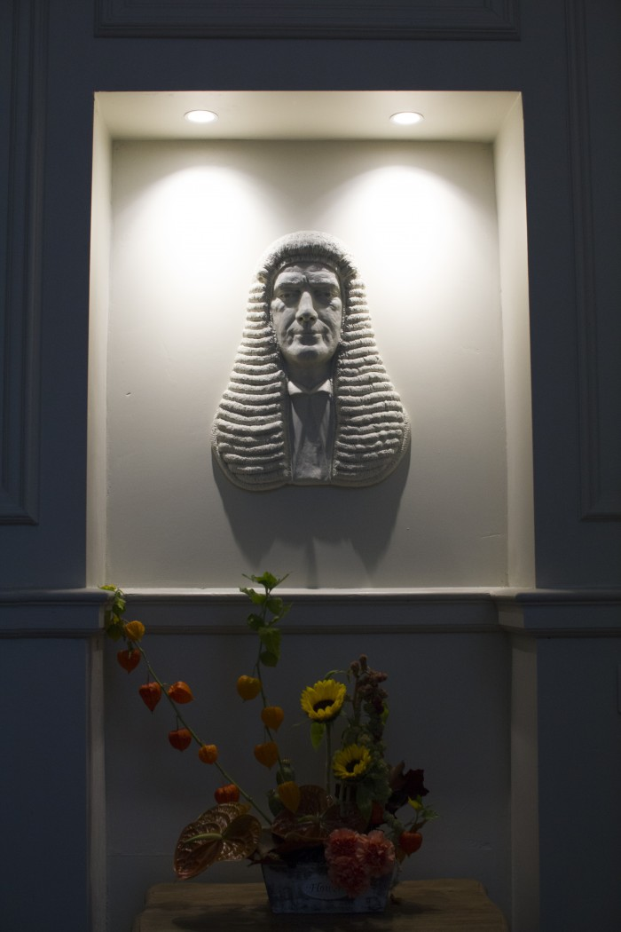 Portrait sculpture of a Judge