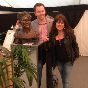 Ian George and Ella Fitzgerald Bronze Bust at Cheltenham Jazz Festival