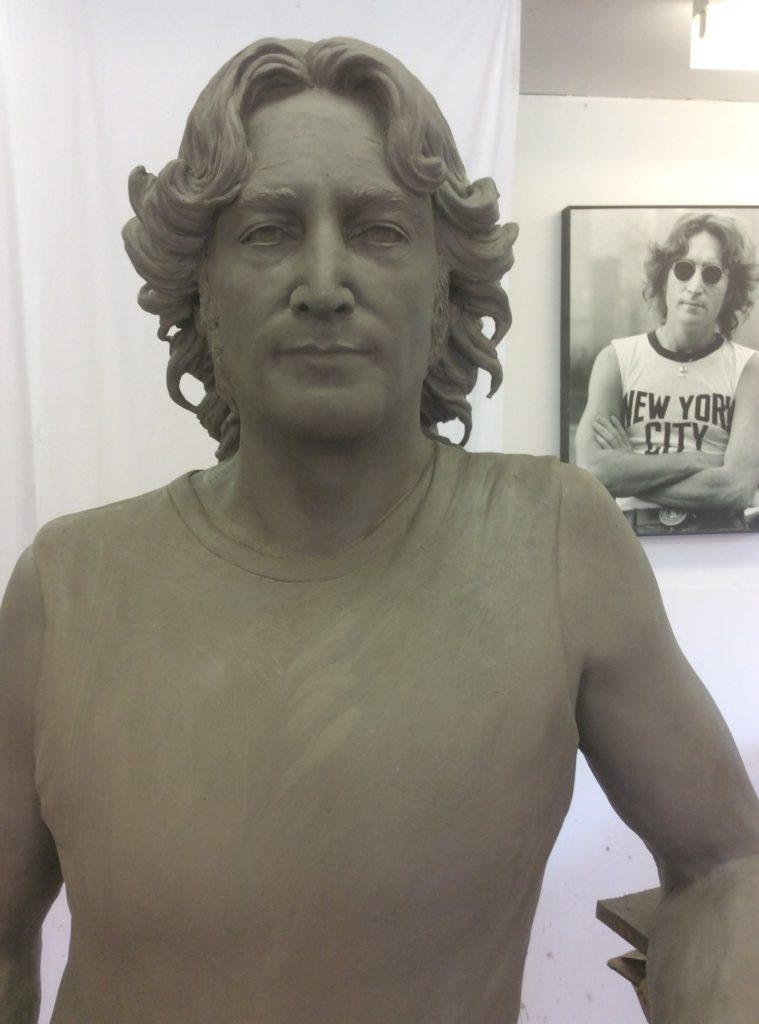 Clay model of John Lennon Close up
