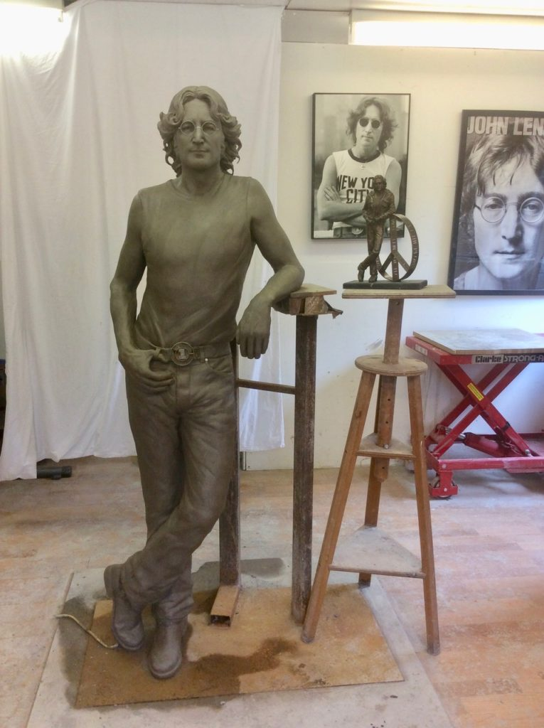 Clay model of John Lennon