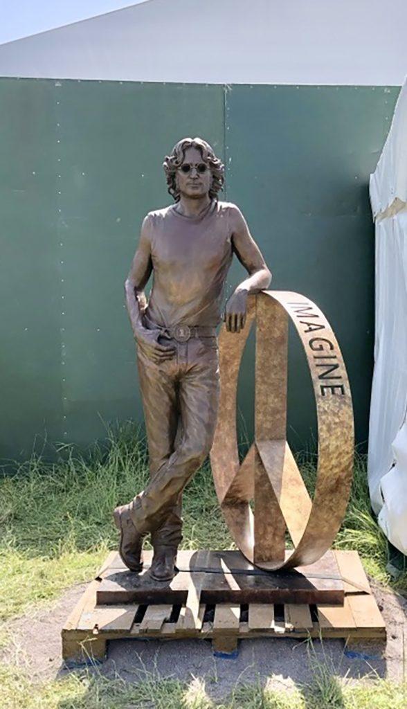 John Lennon Bronze Portrait Peace Statue